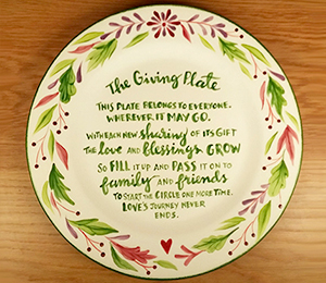 McKenzie Towne The Giving Plate