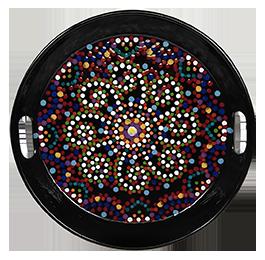McKenzie Towne Mosaic Mandala Tray