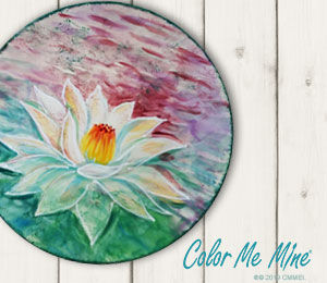 McKenzie Towne Lotus Flower Plate